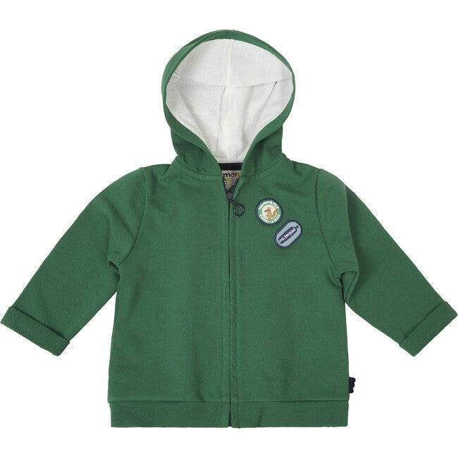 Zipped Hoodie, Green