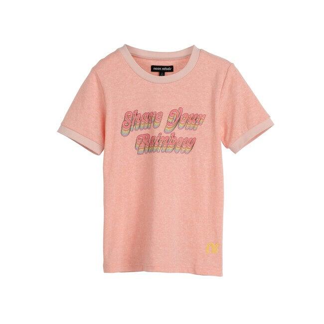 Domino Slub Ringer Tee, Neon Pink
