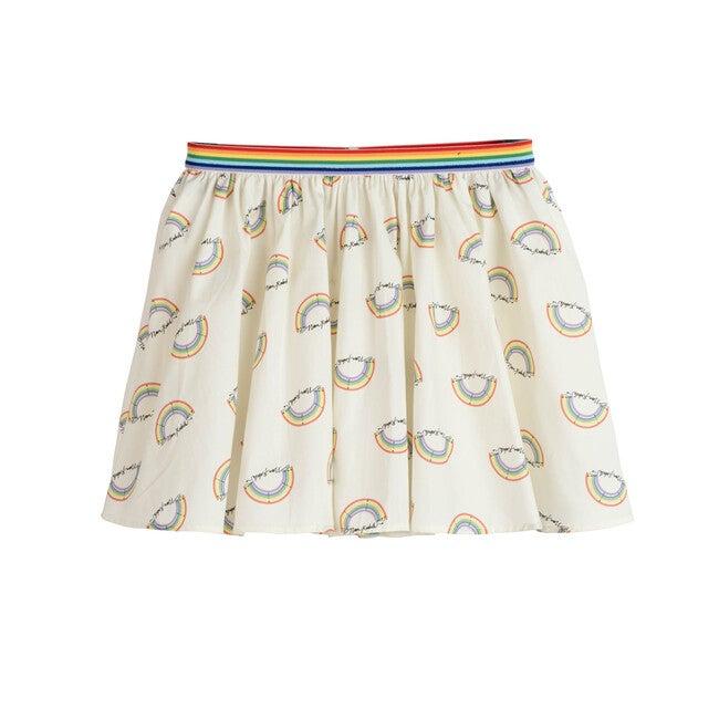Patti Poplin Skirt, Marshmallow Rainbow