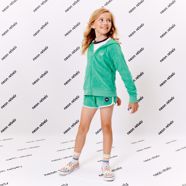 Joni Retro Terry Shorts, Gumdrop Green