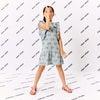 Coco Ruffle Dress, Xenon Blue Rainbow - Dresses - 2