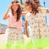 Zadie Skater Poplin Dress, Marshmallow Rainbow - Dresses - 4