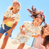 Zadie Skater Poplin Dress, Marshmallow Rainbow - Dresses - 5