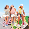 Zadie Skater Poplin Dress, Marshmallow Rainbow - Dresses - 7