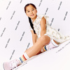Zadie Skater Poplin Dress, Marshmallow Rainbow - Dresses - 8