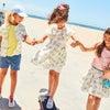 Zadie Skater Poplin Dress, Marshmallow Rainbow - Dresses - 9