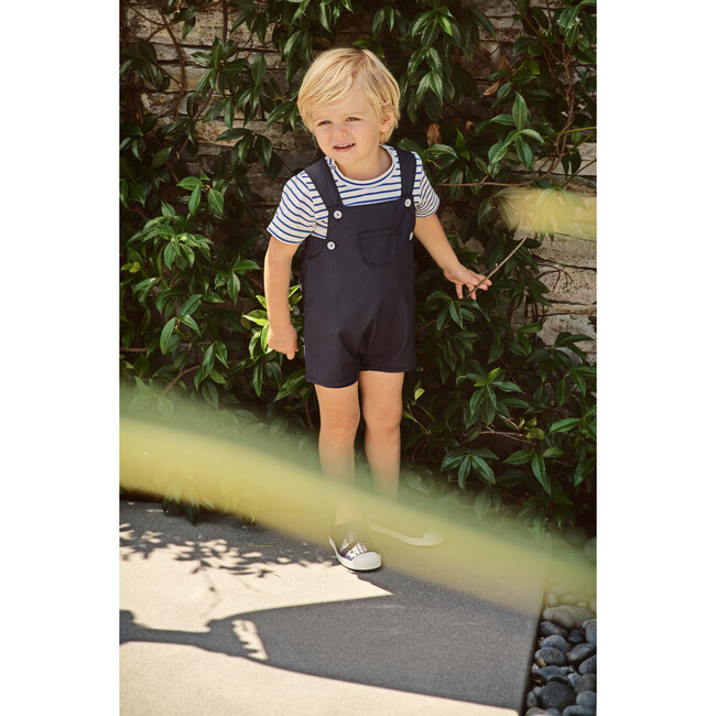 George Infant And Toddler Romper, Navy Cotton Poplin