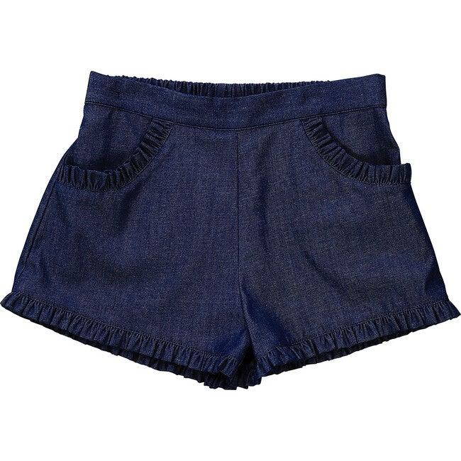 Phoebe Pocket Shorts, Indigo Denim Chambray