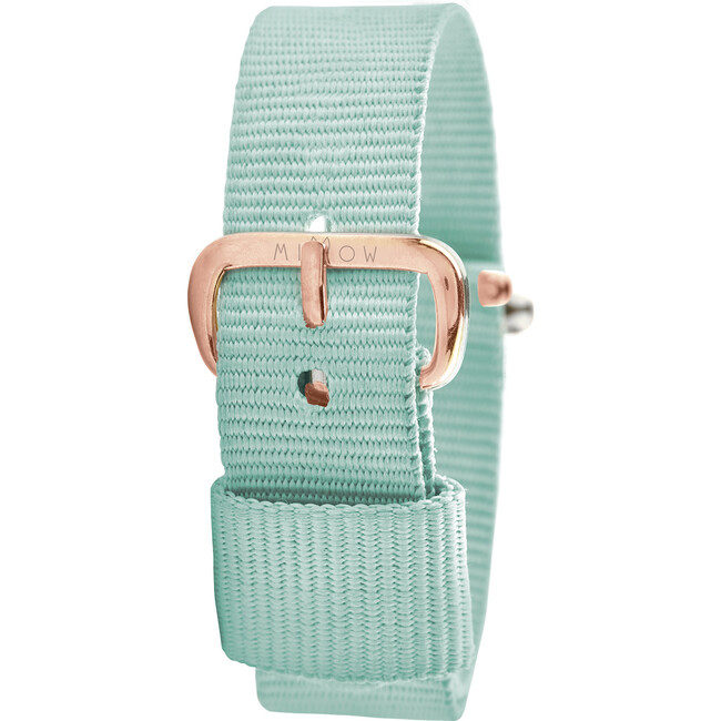 Watch Band, Mint Green and Rose Gold