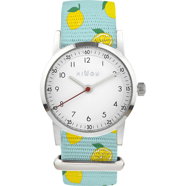 Millow Classic Watch, Lemon and Silver