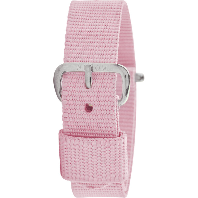 Dragee Watch Band, Light Pink and Silver