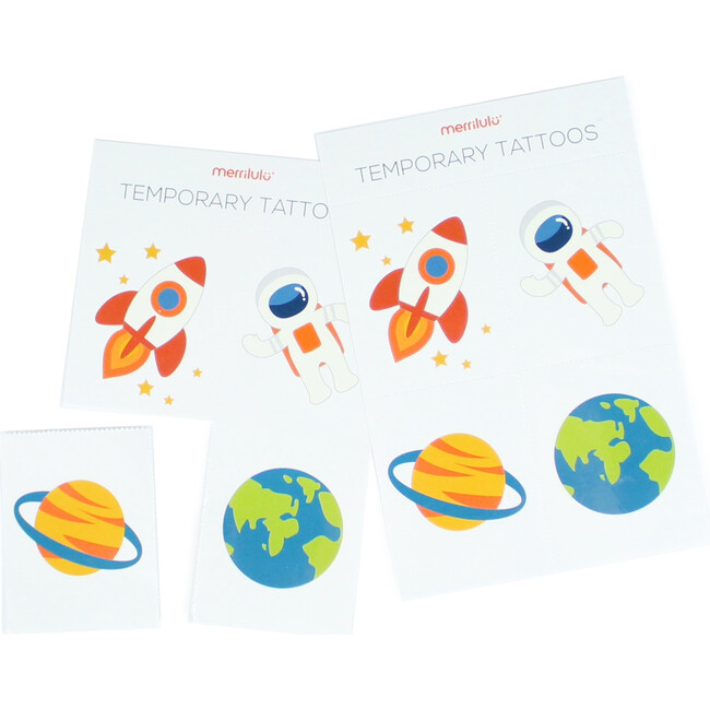 Trip To the Moon Temporary Tattoos