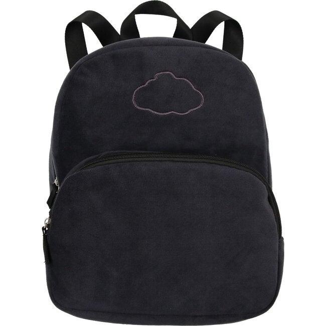 Velour Backpack, Ash