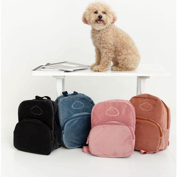 Velour Backpack, Pink