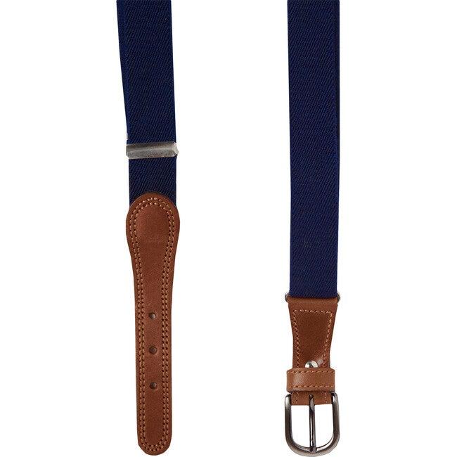 Elasticated Belt, Navy
