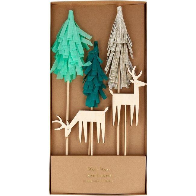 Woodland & Reindeer Cake Toppers