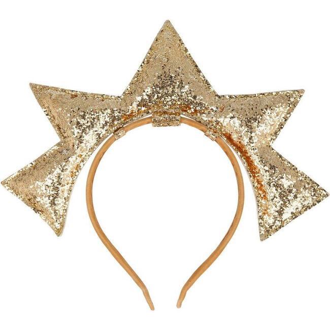Gold Puffy Star Headband