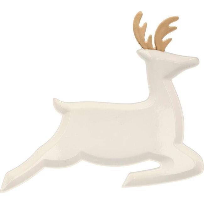 Porcelain Reindeer Plates