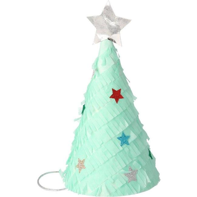 Fringed Christmas Tree Party Hats