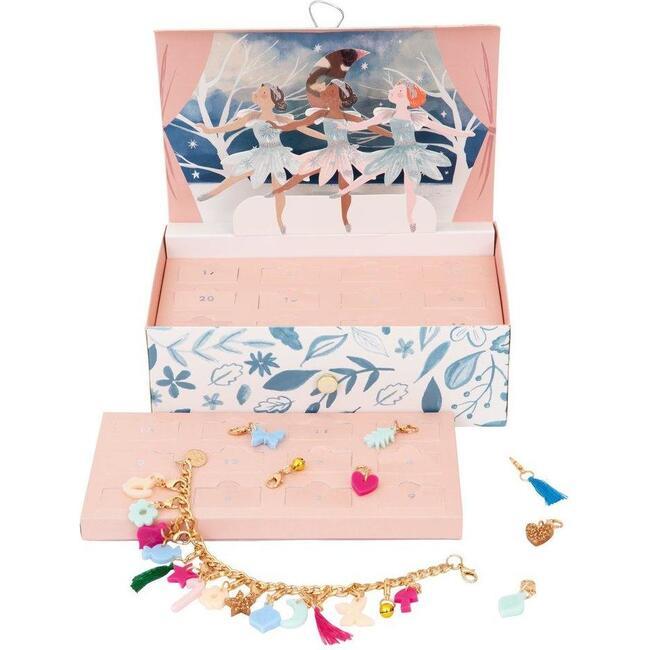 Winter Ballerina Charm Bracelet Advent Calendar Suitcase