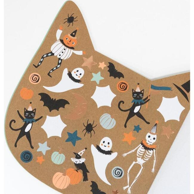 Halloween Cat Sticker Sketch Book