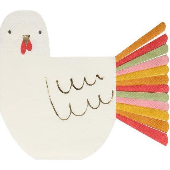 Thanksgiving Fringed Turkey Napkins