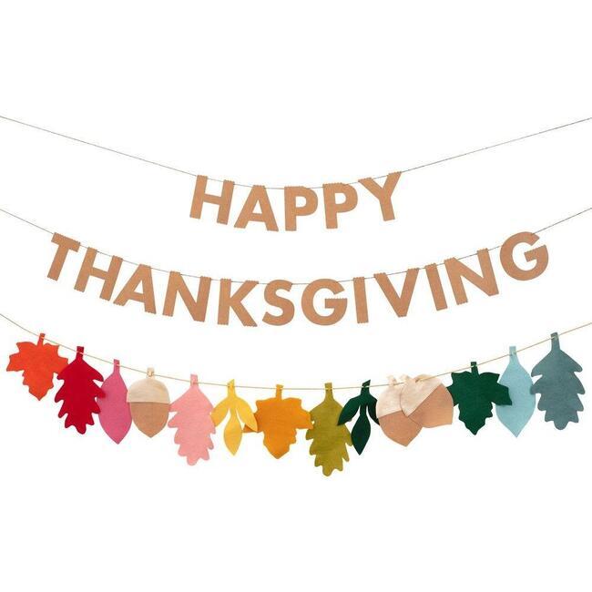 Felt Leaves Thanksgiving Garland