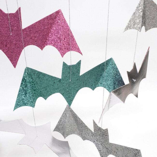 Pastel Halloween Glitter Hanging Bats