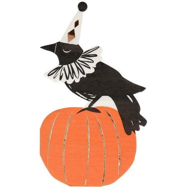 Vintage Halloween Crow Napkins
