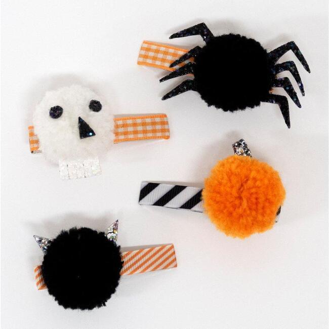Halloween Pompom Hair Clips
