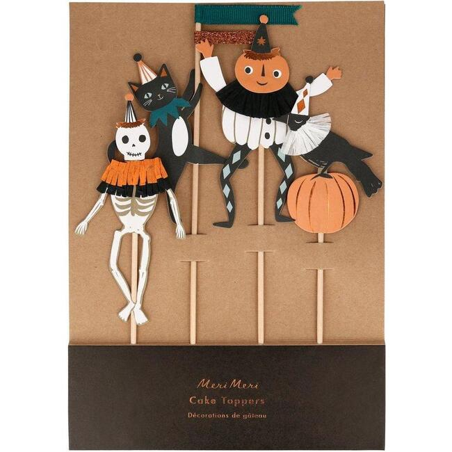Vintage Halloween Cake Toppers