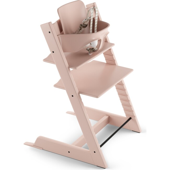 Tripp Trapp® High Chair (includes Tripp Trapp® + Baby set), Serene Pink - Highchairs - 1