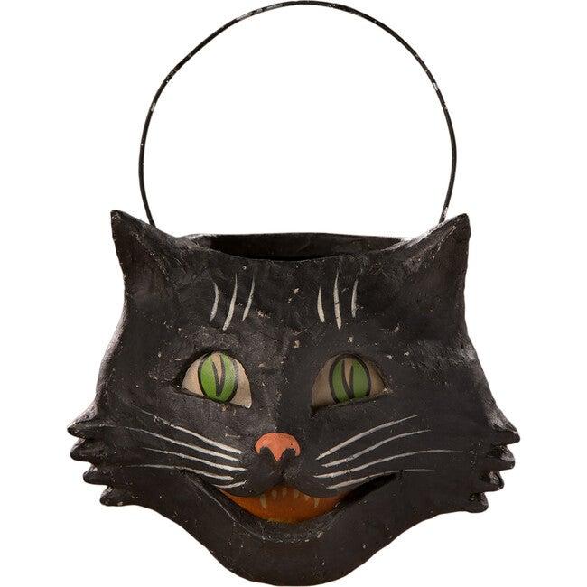 Vintage Happy Cat Bucket, Small