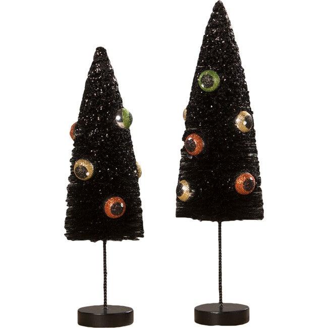 Set of 3 Eerie Eyeball Bottle Brush Trees