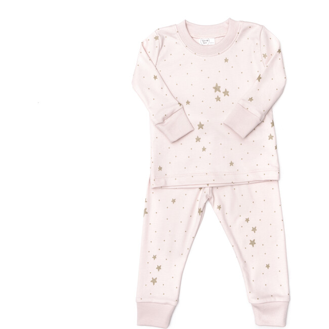 Stars Pajama, Pink & Gold