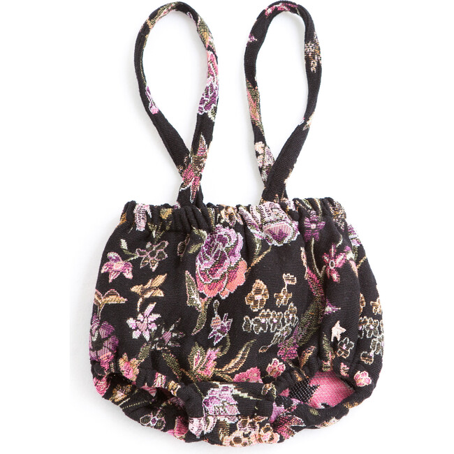 Floral Jacquard Bloomer Suspenders