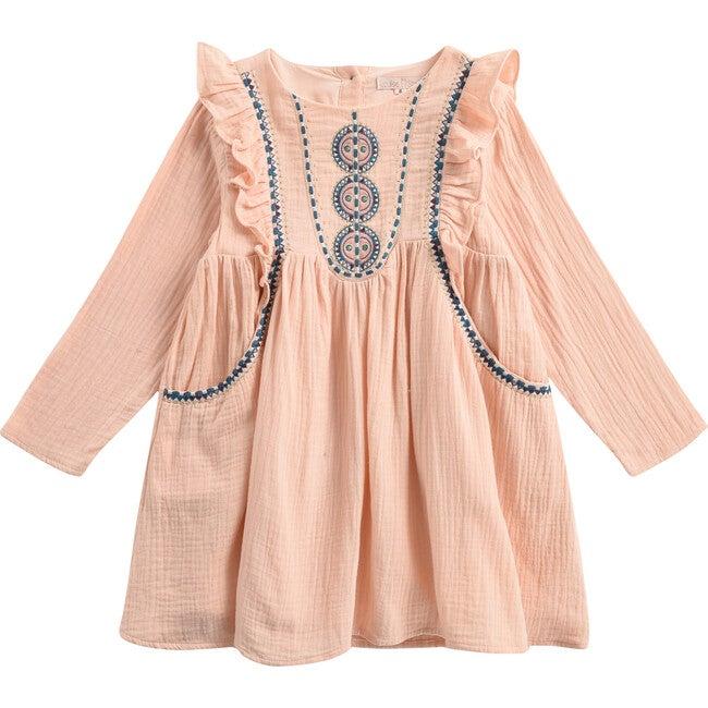 Girls Paracas Dress, Blush - Dresses - 1