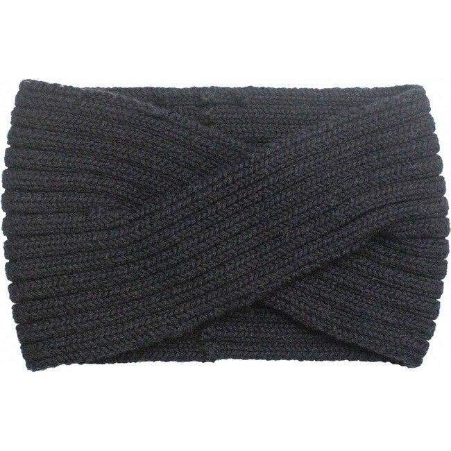 Knitted Headband, Black