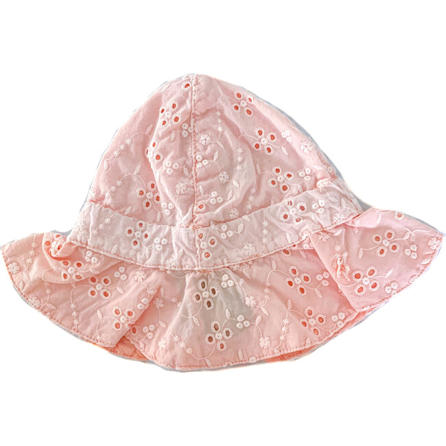 Swiss Embroidered Hat, Salmon