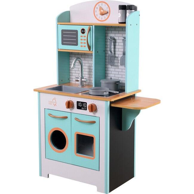 Little Chef Santos Retro Play Kitchen - Petrol/Wood