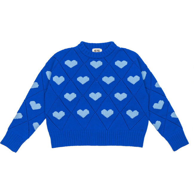 Women's Love Sweater, Cobalt Blue