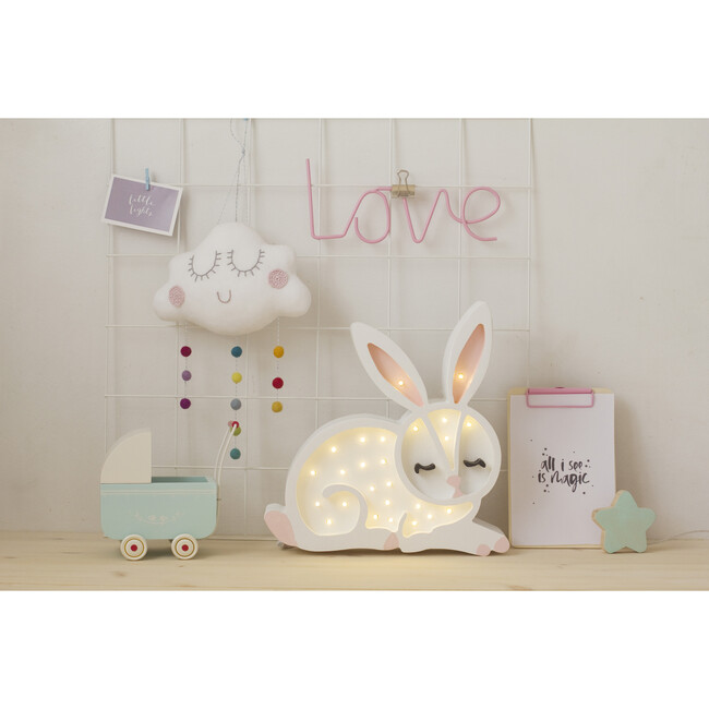 Bunny Lamp, White