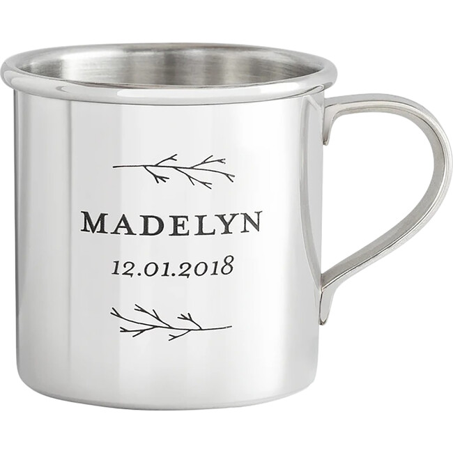 Personalized Heirloom Baby Cup, Botanic