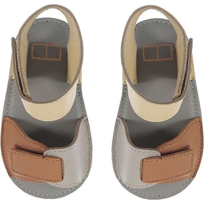 Sporty Velcro Strap Sandals, Colorblock Safari