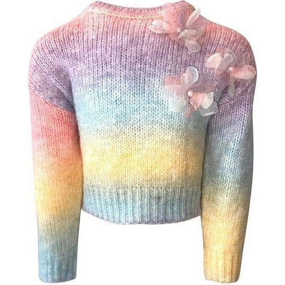 Ombre 3D Flower Sweater, Multi