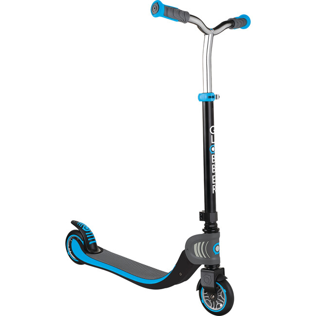 Flow 125 Foldable Scooter, Black/Sky Blue