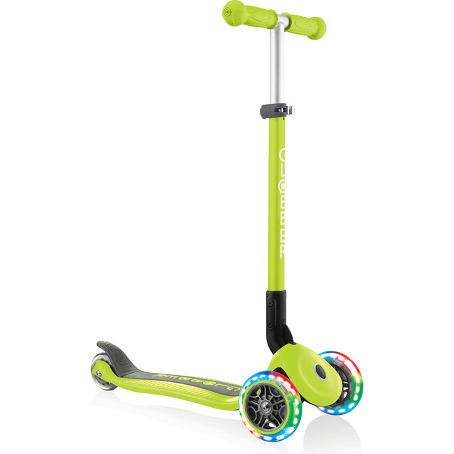 Primo Foldable Scooter with Lights, Lime Green