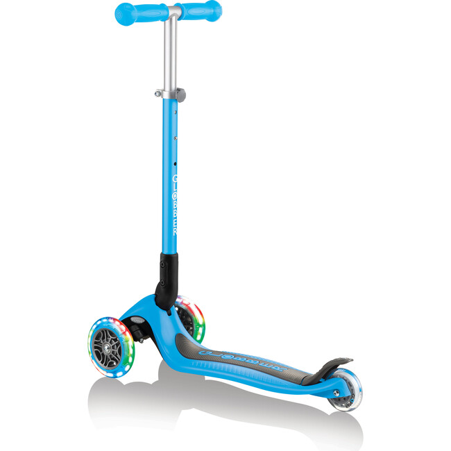 Primo Foldable Scooter with Lights, Sky Blue