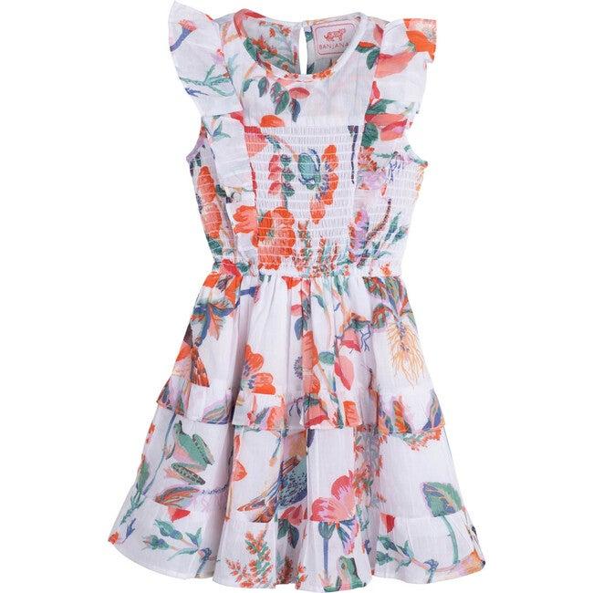 Iris Dress, Woden Hedgerow White