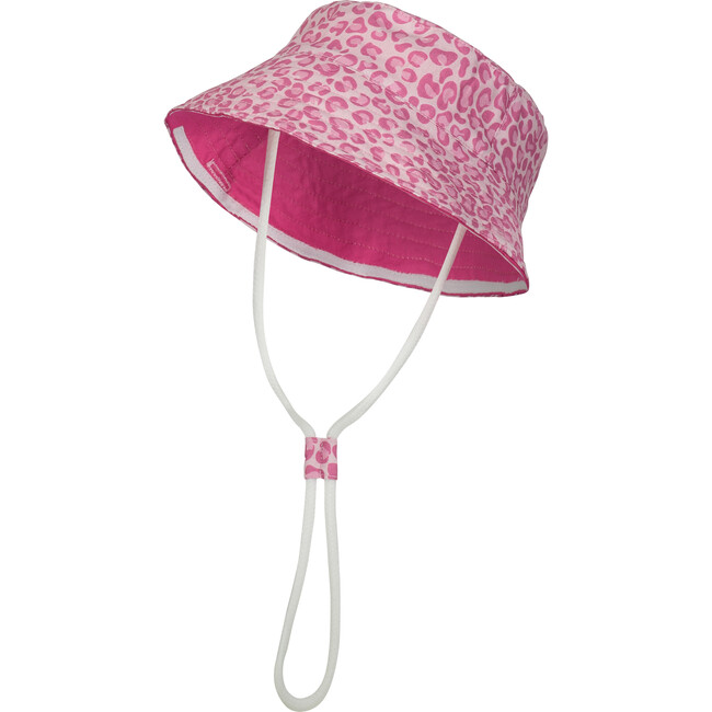 Protective Hat, Pink Leopard